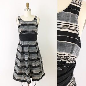 Tracy Reese Silver & Black Striped Party Dress XS